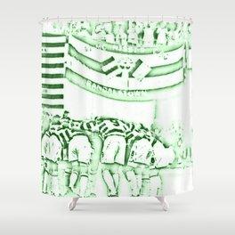 Heated Hoops Huddle Shower Curtain