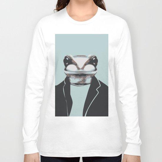 Frog internship animal portrait Long Sleeve T-shirt