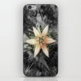BW flower iPhone Skin