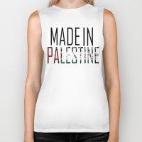palestine Biker Tanks featuring Made In Palestine by VirgoSpice