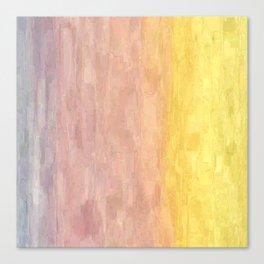 Pastel Sunset Gradient Canvas Print