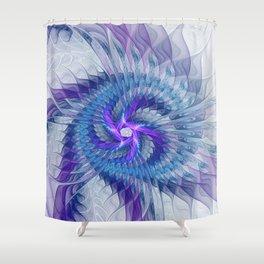 Swirl, Abstract Fractal Art Shower Curtain