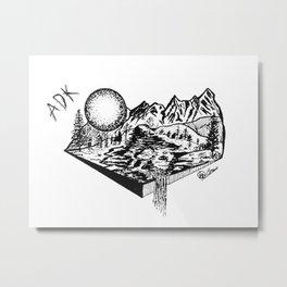 """ADK Mornings"" Adirondacks,  Adirondack Mountains,  Rustic Wall ArtArt Metal Print"
