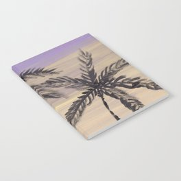 two palm trees euphoric sky Notebook