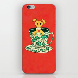Dinnerware Sets - puppy in a teacup iPhone Skin