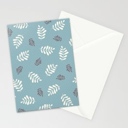 Falling Leaves – Blue Stationery Cards