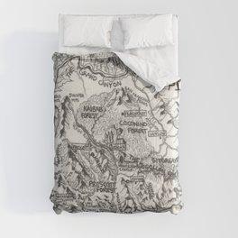 Hand-Drawn Arizona Map Comforters