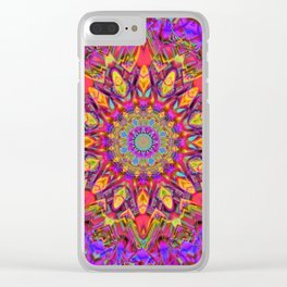Abstract Flower AAA QQ YY Clear iPhone Case