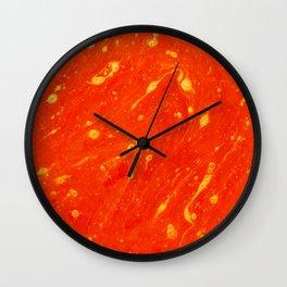 Red Adagio Wall Clock