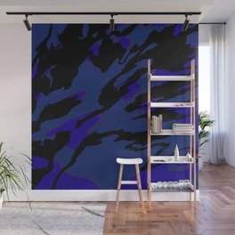 Green and Black Wall Mural