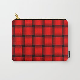Large Red Weave Carry-All Pouch