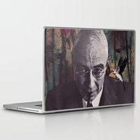 philosophy Laptop & iPad Skins featuring The Philosophy of Composition by Collage Calamity