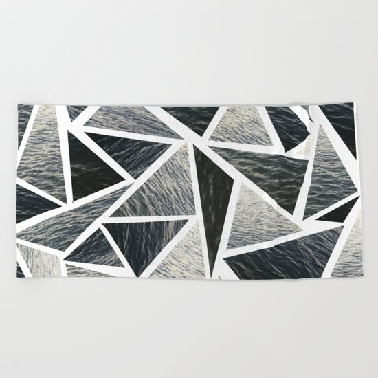 Shattered Ocean Beach Towel