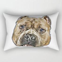 American Bully pitbull dog Rectangular Pillow