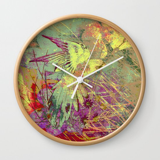 Parrot. On Front Page. Wall Clock