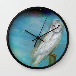 Opal Skies Wall Clock