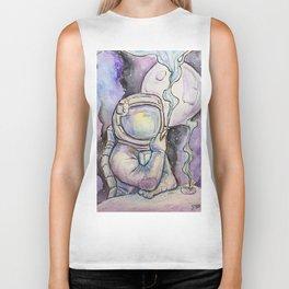 """Space Kills""   Funny WaterColor Illustration Biker Tank"