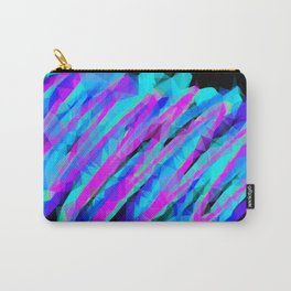 psychedelic geometric polygon abstract in pink blue with black background Carry-All Pouch