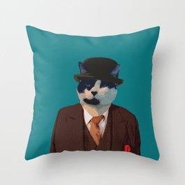 Studious Cat  Throw Pillow