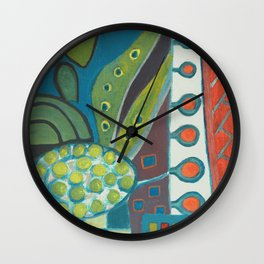Composition with large Egg on a Table Wall Clock