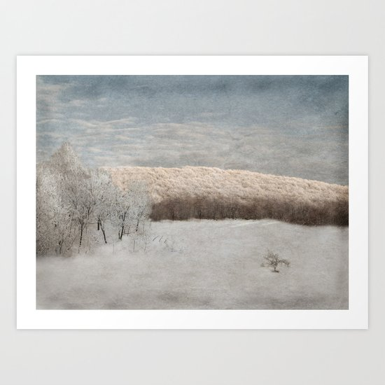 Winter drive Art Print