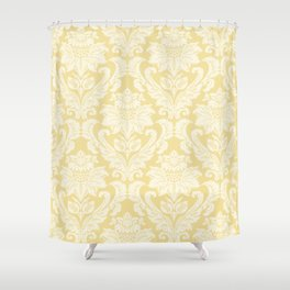 Cream Damasco Shower Curtain
