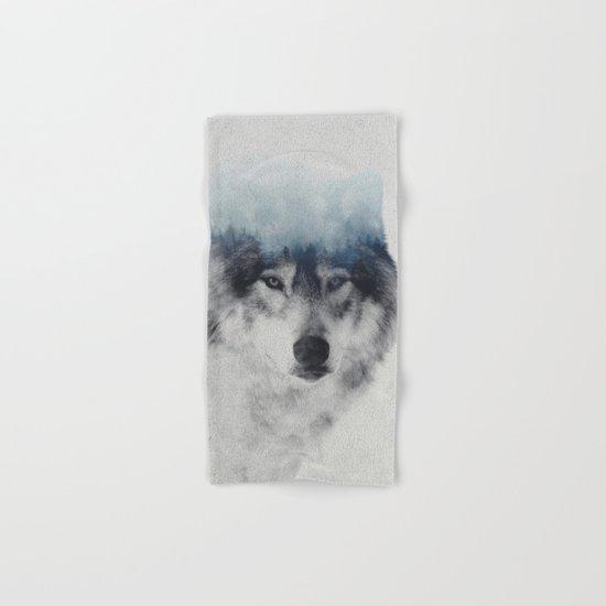 Grey Wolf In Fog Hand & Bath Towel