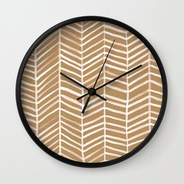 Kraft Herringbone Wall Clock