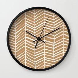Kraft Herringbone Wall Clock