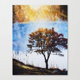 "Original Painting ""Foggy Sunrise"" Canvas Print"