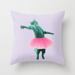 ballerina Cat Throw Pillow