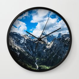 Overcoming Mountains Wall Clock
