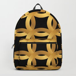Art Deco-Like Pattern: 24-Karat Color Lucky Gold Chips Backpack