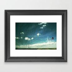 skyred Framed Art Print
