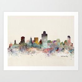 salt lake city skyline Art Print