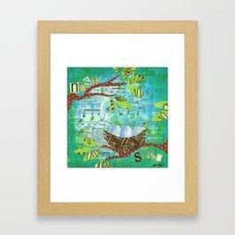 Nest and Sing Framed Art Print