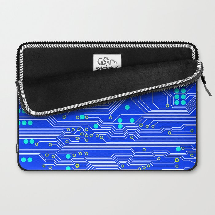 Blue Circuit Board  Laptop Sleeve