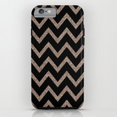 Black and Gold Glitter Chevron Tough Case iPhone 6