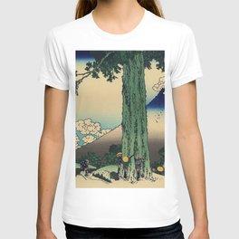Hokusai Katsushika - Mishima Pass In Kai Province T-shirt