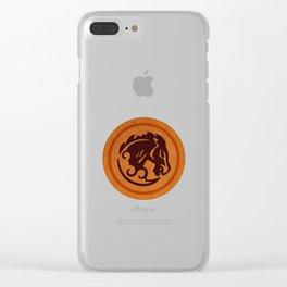 Bucking Bronco Emblem Clear iPhone Case