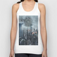 sci fi Tank Tops featuring Sci-Fi City by Michael Lenehan