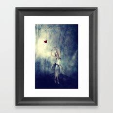 Forever chasing love Framed Art Print
