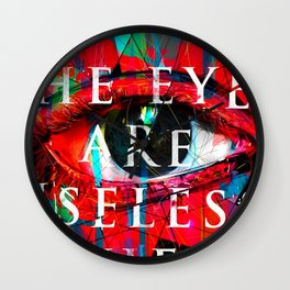 Useless Eyes Wall Clock