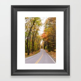 Foliage Road Framed Art Print