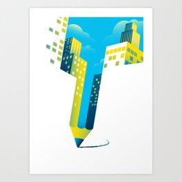 Draw The Future Art Print