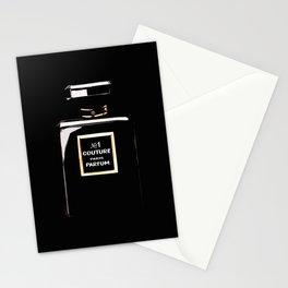 Black Parfum on black Stationery Cards