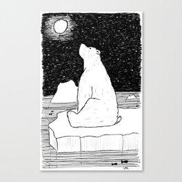Thoughtful Polar Bear Canvas Print