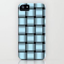 Large Pastel Blue Weave iPhone Case