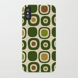 Mid Century Modern Garden Path Pattern 321 iPhone Case