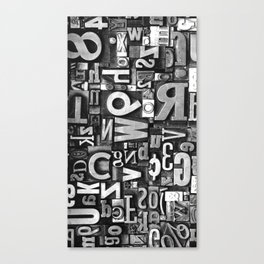 Metal Madness - Typography Photography™ Canvas Print